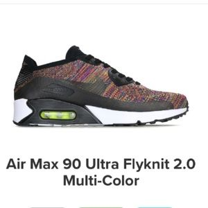 Nike air max 90 ultra Flyknit multi color 10.5 men